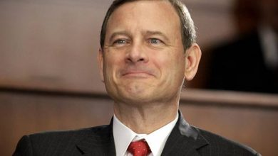 Photo of Chief Justice John Roberts' Supreme Court at 10, Defying Labels