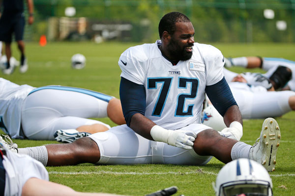 Tennessee Titans offensive tackle Michael Oher (Mark Humphrey/AP Photo)