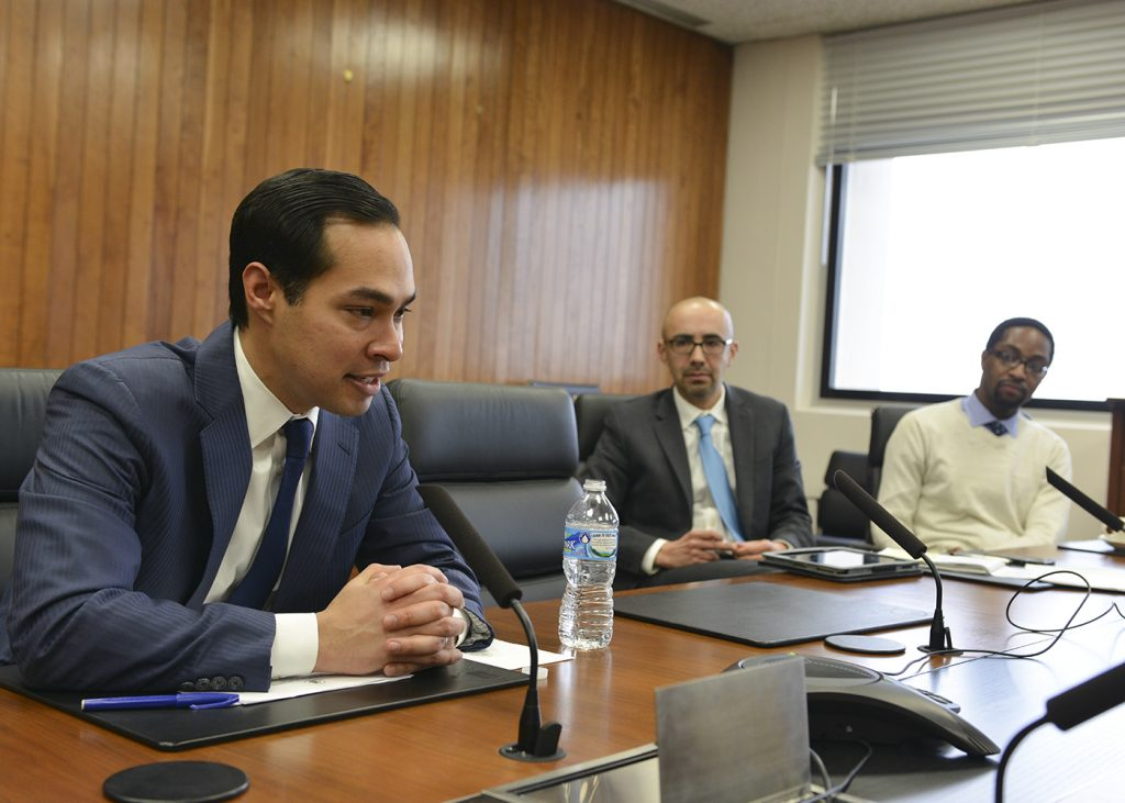 Julián Castro, the secretary of the Department of Housing and Urban Development talks about the importance of homeownership in the African American community. (Freddie Allen/NNPA Photo)