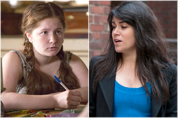 """Emma Kenney in """"Shameless,"""" Abbi Jacobson in """"Broad City"""" (Credit: Showtime/Cliff Lipson/Comedy Central)"""