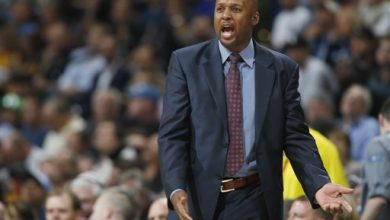 Photo of Denver Nuggets Fire Coach Brian Shaw with Team in Slide