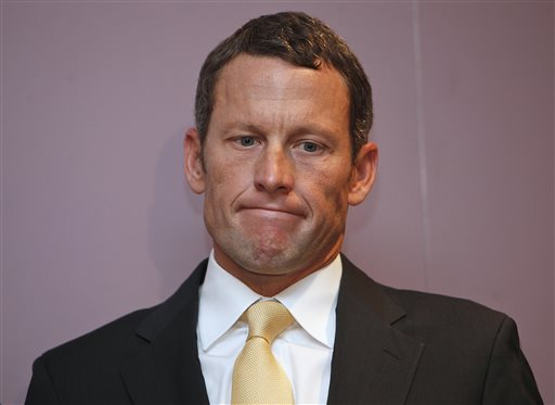 In this Feb. 28, 2011, file photo, Lance Armstrong is shown during a news conference at the Cedars-Sinai Hospital in Los Angeles. A person with knowledge of the meeting tells The Associated Press that cyclist Lance Armstrong talked last week with the head of the U.S. Anti-Doping Agency in hopes of potentially reducing his lifetime ban. Armstrong and Travis Tygart met for six hours, according to the person who spoke on condition of anonymity because the discussion was meant to remain private. The meeting was first reported by The New York Times.(AP Photo/Damian Dovarganes, File)