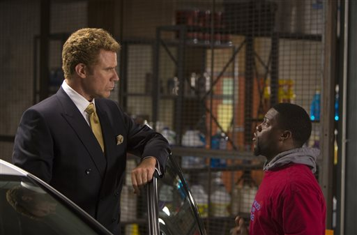 """In this image released by Warner Bros. Entertainment Inc., Kevin Hart, right, and Will Ferrell appear in a scene from """"Get Hard."""" (AP Photo/Warner Bros. Entertainment Inc., Patti Perret)"""