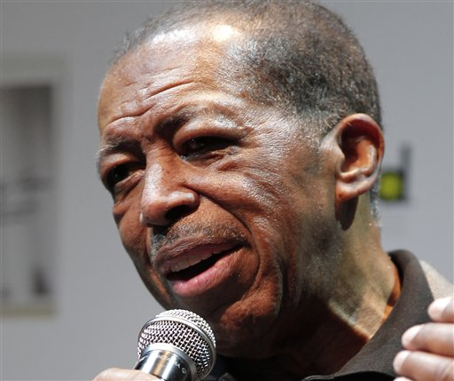 "In this Nov. 15, 2011 file photo, American soul singer Ben E. King speaks during a news conference in Tokyo. One of the most broadcast songs of the 20th century, Ben E. King's ""Stand by Me,"" has been selected for preservation at the Library of Congress, along with recordings from Joan Baez, The Righteous Brothers, Steve Martin and the darker sounds of the band Radiohead. (AP Photo/Itsuo Inouye, File)"