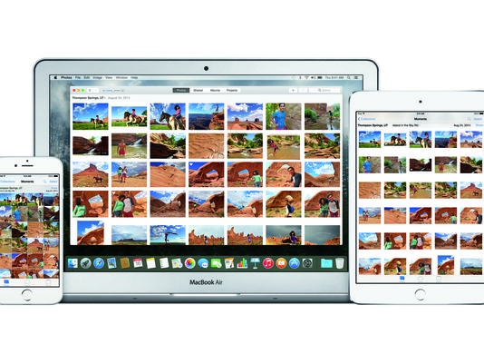 Apple's new Photos app syncs images from multiple devices. (Apple)