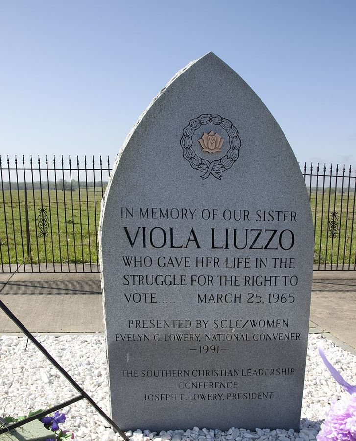 Memorial to Viola Fauver Gregg Liuzzo in Lowndes County, Alabama. (Carol M. Highsmith/public domain)
