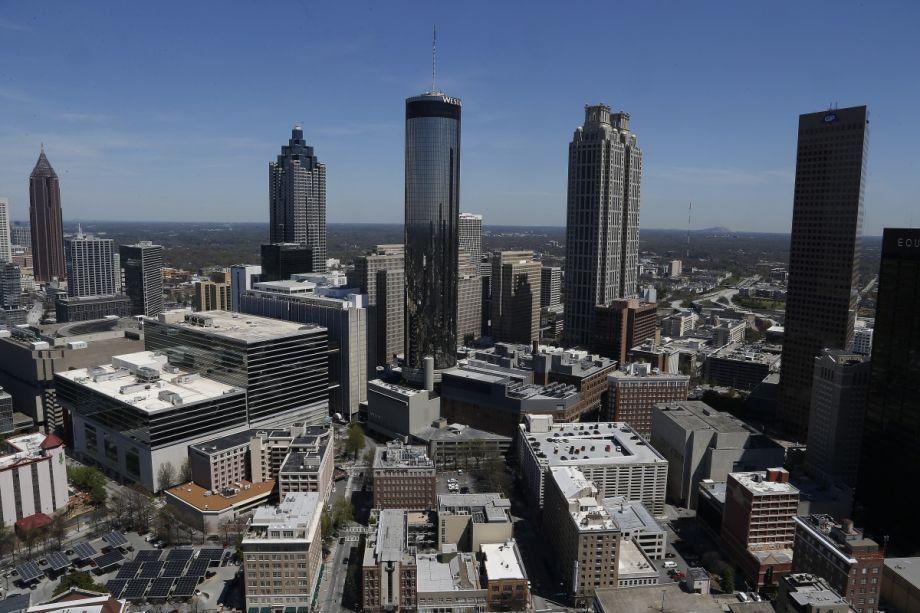 Atlanta skyline (AP Photo/Mike Stewart)