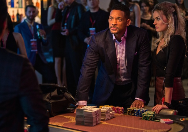 Will Smith and Margot Robbie co-star in the con artist movie Focus. (Courtesy Photo)