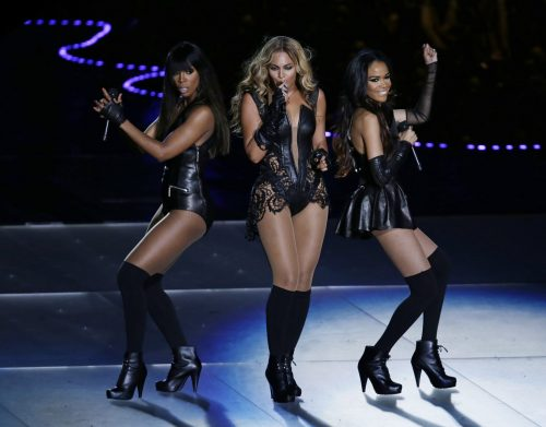**FILE** Beyonce performs with Kelly Rowland, left, and Michelle Williams, right, of Destiny's Child, during the halftime show of the NFL Super Bowl XLVII football game between the San Francisco 49ers and the Baltimore Ravens, Sunday, Feb. 3, 2013, in New Orleans. (AP Photo/Gerald Herbert)