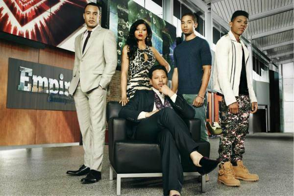 """The cast of Fox's hit show, """"Empire,"""" from L to R: Trai Byers, Taraji P. Henson, Jussie Smollett, Bryshere Gray and Terrence Howard. (Courtesy Photo)"""