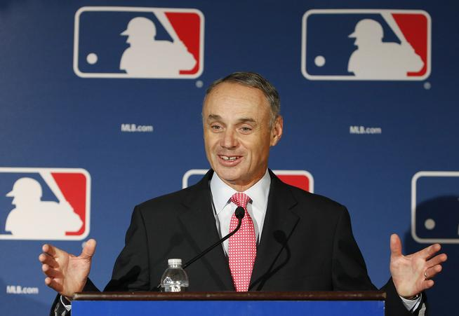Major League Baseball commissioner Rob Manfred. (AP Photo/Ross D. Franklin)