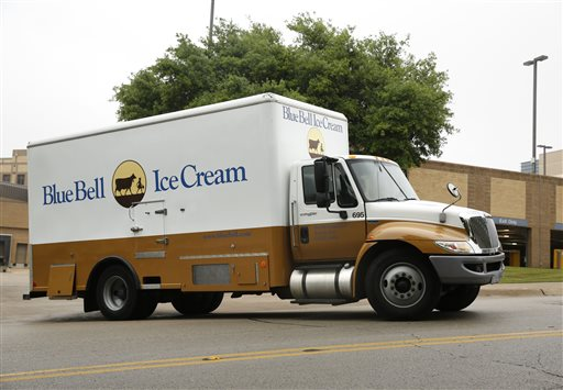 A Blue Bell Ice Cream truck stops at Walgreens in Dallas on Thursday morning, April 23, 2015. Texas-based Blue Bell Creameries recalled all its products this week after listeria was found in a variety of the company's frozen treats. New technologies account for one way that the government is tracking a life-threatening outbreak of listeria linked to Blue Bell ice cream products. Listeria is a heartyy bacteria found in soil and water that can be tracked into a plant or carried by animals. (David Woo/The Dallas Morning News via AP)