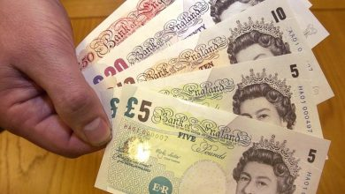 Photo of Pound at Five-Year Low Against Dollar on Weak Output