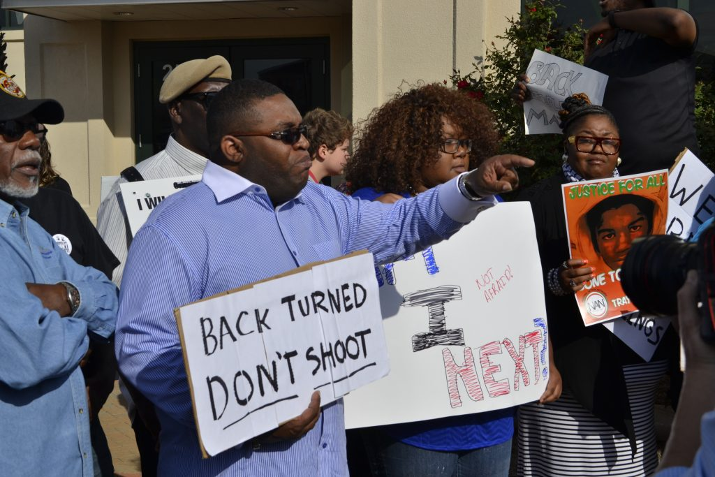 Protestors making their voices heard (Photo by Tolbert Smalls, Jr./The Charleston Chronicle)