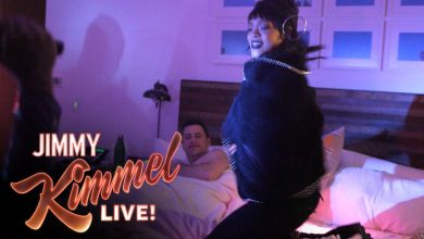 Photo of Video: Rihanna Invades Jimmy Kimmel's Bedroom in April Fools' Day Prank