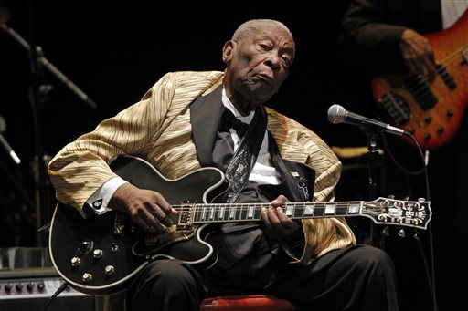 In this May 27, 2014 file photo, B.B. King performs in concert at the Tennessee Theater, in Knoxville, Tenn. The Blues patriarch King is telling fans he's feeling better and will be released from a Las Vegas hospital on Tuesday, April 7, 2015. The 89-year-old musician had been hospitalized since the weekend for what his daughter Claudette King, told the Los Angeles Times was treatment of dehydration caused by Type 2 diabetes. (Photo by Wade Payne/Invision/AP, File)
