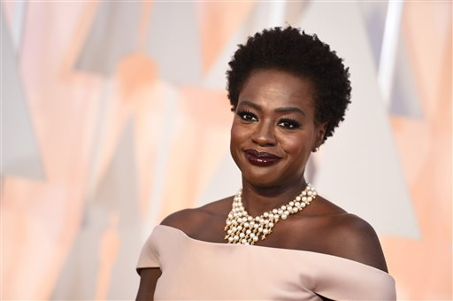 "In this Feb. 22, 2015 file photo, Viola Davis arrives at the Oscars at the Dolby Theatre in Los Angeles. ""How to Get Away with Murder"" star Davis will play Harriet Tubman in a HBO movie about the abolitionist hero. HBO said Monday, April 27, 2015, that the project is based on the biography ""Bound for the Promised Land: Harriet Tubman,"" by historian Kate Clifford Larson. (Photo by Jordan Strauss/Invision/AP, File)"
