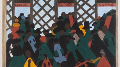 Photo of Jacob Lawrence's Migration Series on View at MoMA