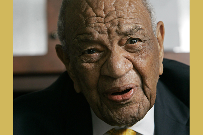 In a Nov. 29, 2007 file photo, Rev. Gardner Taylor is seen in his home in Raleigh, N.C. The Progressive National Baptist Convention says the Rev. Gardner Taylor died Sunday, April 5, 2014. He was 96. (AP Photo/Gerry Broome, File)