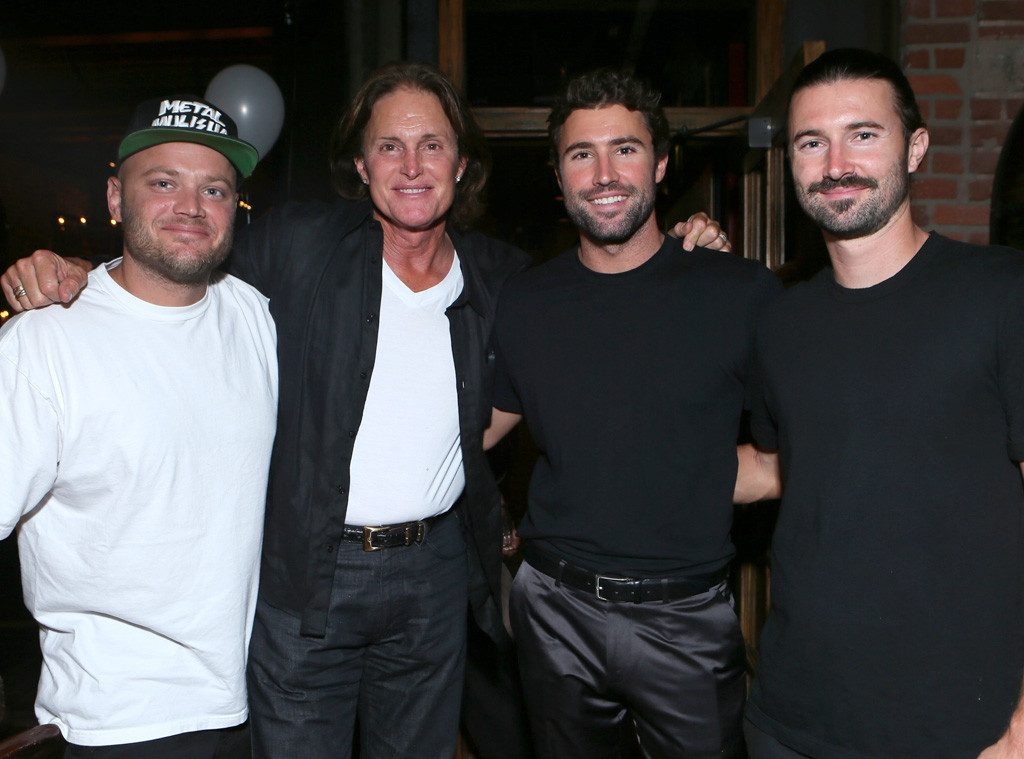 Bruce Jenner (second from left) with his three sons Burt (left), Brody and Brandon (Alexandra Wyman/Invision for PMKBNC/AP Images)