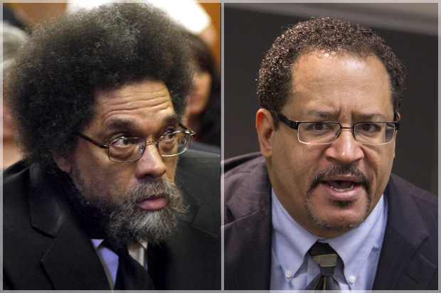 Cornel West, Michael Eric Dyson (Credit: AP/Richard Drew/Evan Vucci)