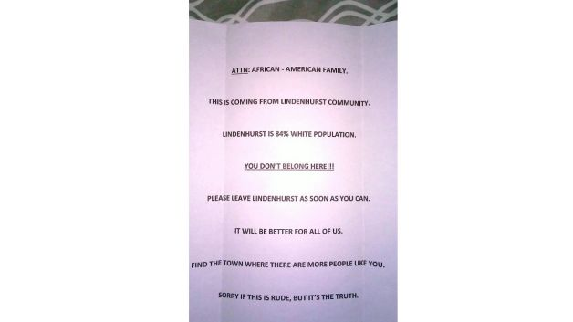 052515-National-Racist-Letter-Tells-Black-Family-to-Leave-LI-Home