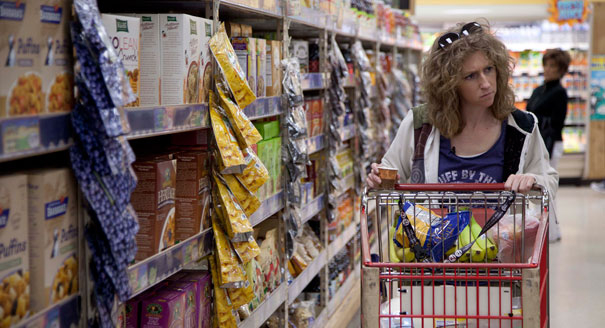 A woman shops for groceries. (AP Photo)