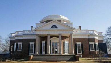 Photo of Rebuilt Slave Sites Being Unveiled at Jefferson's Monticello