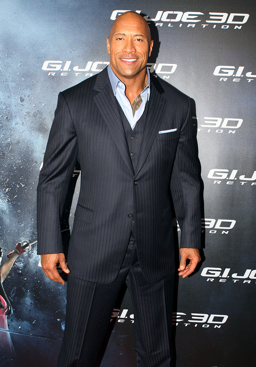 """Photo of Dwayne """"The Rock"""" Johnson Cements His Star Power Outside of the TCL Chinese Theatre"""