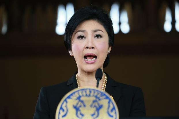 Thai Prime Minister Yingluck Shinawatra speaks at a news conference at the government house in Bangkok, Thailand in 2013 (AP Photo)