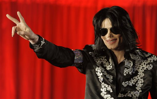 In this March 5, 2009 file photo, US singer Michael Jackson speaks at a press conference at the London O2 Arena. A Los Angeles judge ruled on Tuesday, May 26, 2015, that choreographer Wade Robson waited too long to file a claim alleging that Jackson abused him and the allegations should be dismissed. (AP Photo/Joel Ryan, File)