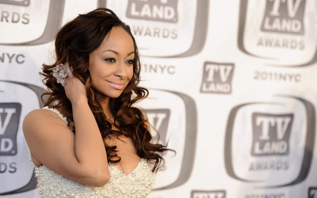 Raven-Symone arrives at the 2011 TV Land Awards on Sunday, April 10, 2011, in New York. (AP Photo/Peter Kramer)