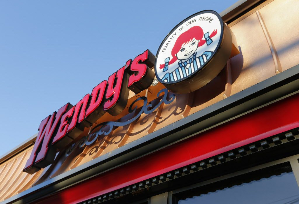 This Friday, March 21, 2014 photo shows a Wendy's restaurant in Providence, R.I. (AP Photo/Michael Dwyer)