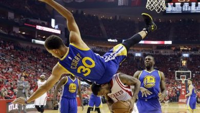 Photo of NBA MVP Curry OK After Fall as Warriors Lose to Rockets