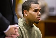 Photo of Singer Chris Brown's Battery Case in Las Vegas Dropped
