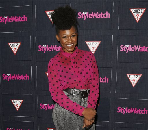 In this Sept. 20, 2012 file photo, Daniele Watts attends The Hollywood Denim Party at Palihouse in West Hollywood. A judge on Monday, May 4, 2015, ordered Watts and her boyfriend, Brian Lucas, to apologize to police officers the actress accused of racial profiling as part of a plea agreement to resolve a lewd conduct case. Watts and Lucas pleaded no contest to one count each of disturbing the peace with loudness and will have the case dismissed if they write apology letters, serve 40 hours of community service and stay out of trouble for one year.  (Photo by Todd Williamson/Invision/AP, File)