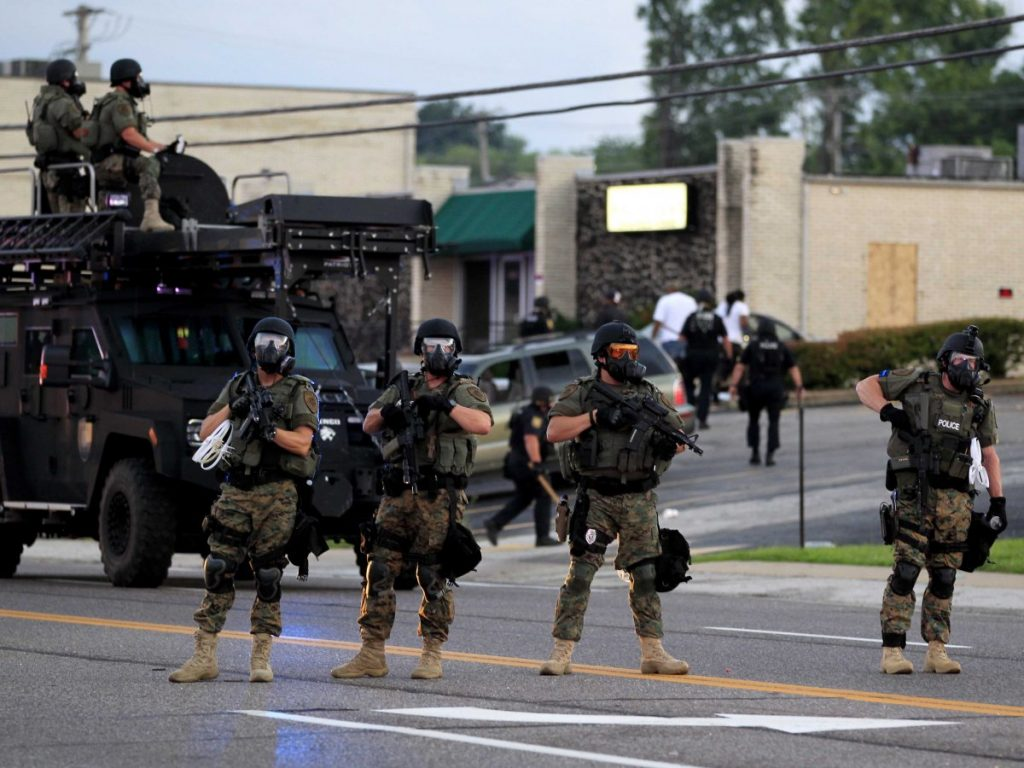 Police in Ferguson (Jeff Roberson/AP Photo)