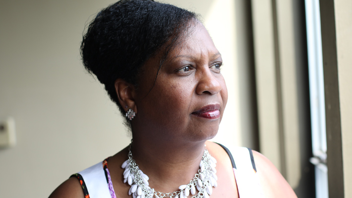 Bridgette Hempstead, founder and president of Cierra Sisters, a breast cancer awareness and support group for African American women, looks to educate and empower men and women about the realities of breast cancer in the African American community. (Chris B. Bennett/The Seattle Medium)