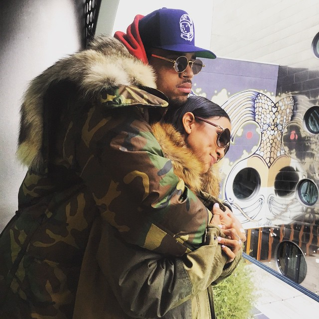 Chris Brown and ex-girlfriend Karrueche Tran (Chris Brown/Instagram)