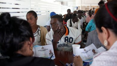 Photo of Haitian Workers Facing Deportation by Dominican Neighbors