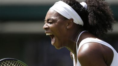Photo of Serena Williams' Wimbledon Starts Slow; Venus Wins 6-0, 6-0