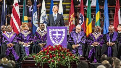 Photo of President Obama Speaks, Sings of 'Amazing Grace' in Memory of Rev. Pinckney