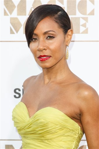"""Jada Pinkett Smith arrives at the Los Angeles premiere of """"Magic Mike XXL"""" at the TCL Chinese Theatre on Thursday, June 25, 2015. (Photo by Paul A. Hebert/Invision/AP)"""
