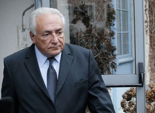 This Feb. 11, 2015 file image shows former Managing Director of International Monetary Fund Dominique Strauss Kahn leaving his hotel in Lille, northern France, as he goes on trial for sex charges at a court. Dominique Strauss-Kahn faces a verdict Friday in the last of a string of legal cases that started when a New York hotel maid accused him of sexual assault in 2011. The onetime presidential contender and former International Monetary Fund chief is accused of aggravated pimping in a prostitution trial in the French city of Lille, but he may well be acquitted for lack of evidence of a crime. (Christophe Ena/AP Photo)