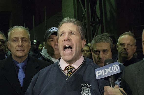 Photo of Patrick Lynch, Police Union Chief Who Fought de Blasio, Wins a 5th Term