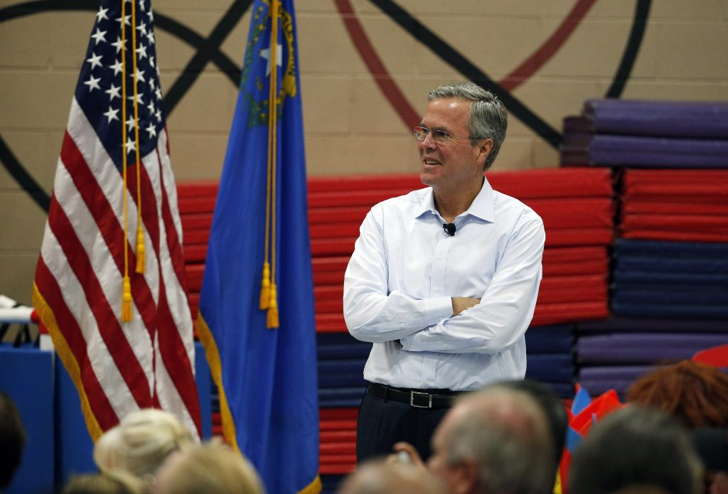 Republican presidential candidate, former Florida Gov. Jeb Bush speaks at a campaign event Saturday, June 27, 2015, in Henderson, Nev. (AP Photo/John Locher)