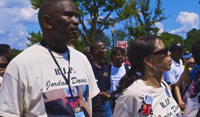 Ron Davis and Lucia McBath, parents of Jordan Davis, at rally.