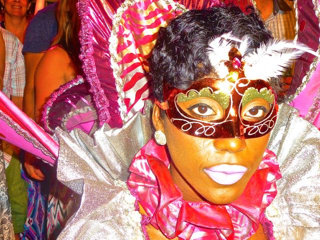 Lady at party in Ocho Rios