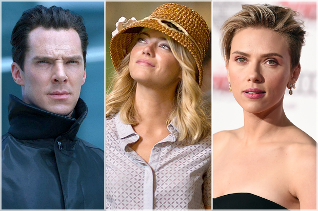 Benedict Cumberbatch, Emma Stone, Scarlett Johansson (Paramount Pictures/Columbia Pictures/AP/Jordan Strauss)