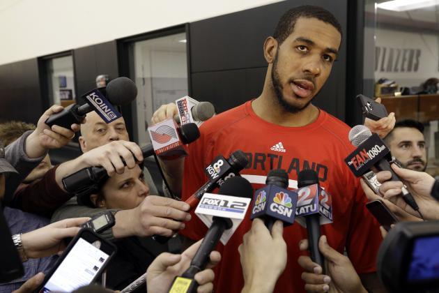 Portland Trail Blazers forward LaMarcus Aldridge (Don Ryan/Associated Press)